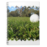 Golf Ball on Course Notebook