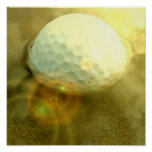 Golf Ball Stack in the Mud Print