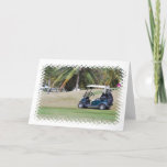Golf Cart Greeting Card