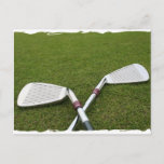Golf Club Design Postcard