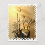 Golf Clubs Postcard