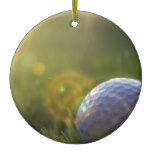 Golf on a Sunny Day Ceramic Ornament