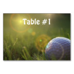 Golf on a Sunny Day Table Number