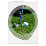 Golf Putt Greeting Card