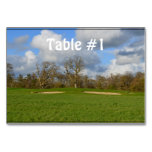Let's Play Golf Table Number